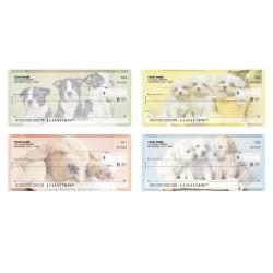 "Personal Wallet Checks, 6"" x 2 3/4"", Duplicates, Puppy Love, Box Of 150"