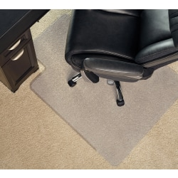 """Realspace™ Heavy Duty Chair Mat With Lip, 36"""" x 48"""", Clear"""
