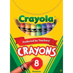 Crayola® Standard Crayons, Assorted Colors, Box Of 8 Crayons