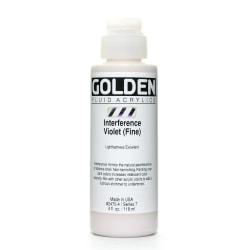 Golden Fluid Acrylic Paint, 4 Oz, Interference Violet Fine