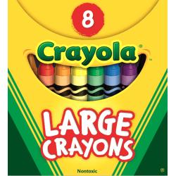 Crayola® Large Crayon Set, Assorted Colors, Box Of 8