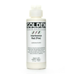 Golden Fluid Acrylic Paint, 4 Oz, Interference Red Fine