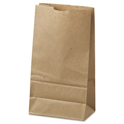 "General Paper Grocery Bags, #6, 6"" x 3 5/8"" x 11 1/16"", 35 Lb, Brown, Pack Of 500"
