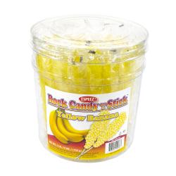 """Espeez Rock Candy Sticks, 7"""", Yellow, Pack Of 36"""