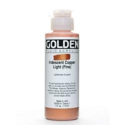 Golden Fluid Acrylic Paint, 4 Oz, Iridescent Copper Light Fine