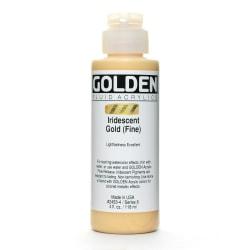Golden Fluid Acrylic Paint, 4 Oz, Iridescent Gold Fine