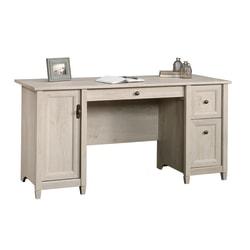 """Sauder® Edge Water 59""""W Computer Desk, Chalked Chestnut"""