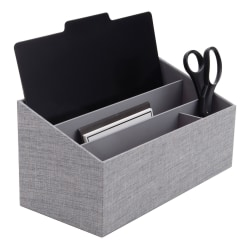 Realspace®  Gray Fabric 4-Compartment Desk Valet