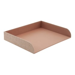 Realspace® Tan Fabric Paper Tray, Letter Size