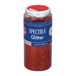 Pacon® Glitter, Shaker-Top Can, Red