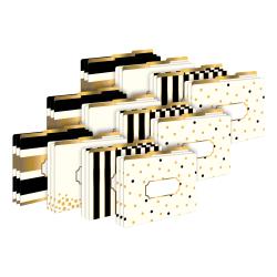 Barker Creek Tab File Folders, Letter Size, Gold, Pack Of 36 Folders