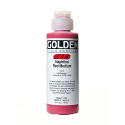 Golden Fluid Acrylic Paint, 4 Oz, Naphthol Red Medium