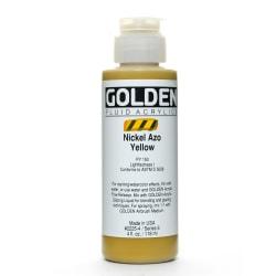 Golden Fluid Acrylic Paint, 4 Oz, Nickel Azo Yellow