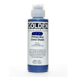 Golden Fluid Acrylic Paint, 4 Oz, Phthalo Blue/Green Shade