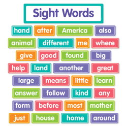 Scholastic More Sight Words Bulletin Board Set, Pre-K To 2nd Grade