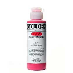 Golden Fluid Acrylic Paint, 4 Oz, Primary Magenta
