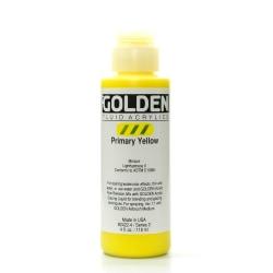 Golden Fluid Acrylic Paint, 4 Oz, Primary Yellow