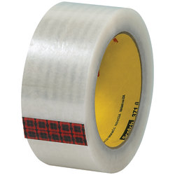 "3M™ 371 Carton Sealing Tape, 3"" Core, 2"" x 110 Yd., Clear, Case Of 6"