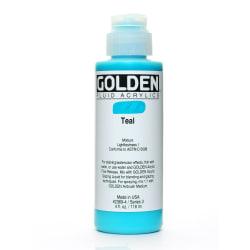 Golden Fluid Acrylic Paint, 4 Oz, Teal