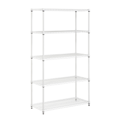 Honey-Can-Do Urban Steel Adjustable Shelving Unit, 5-Tiers, White
