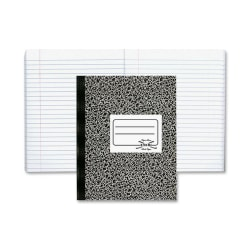 Rediform National Brand Composition Book, 80 sheets per book, one subject notebook,  Xtreme White paper, Sewn binding with flexible black marble cover