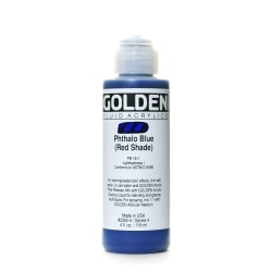 Golden Fluid Acrylic Paint, 4 Oz, Phthalo Blue/Red Shade