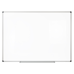 "Realspace™ Magnetic Dry-Erase Whiteboard, 36"" x 48"", Aluminum Frame With Silver Finish"