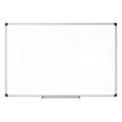 """FORAY™ Magnetic Dry-Erase Whiteboard, Steel, 36"""" x 24"""", Silver Aluminum Frame"""