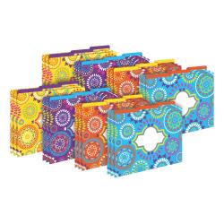 Barker Creek Tab File Folders, Letter Size, Moroccan, Pack Of 24 Folders