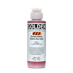 Golden Fluid Acrylic Paint, 4 Oz, Quinacridone Nickel Azo Gold