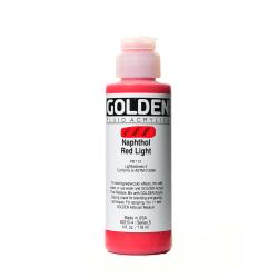 Golden Fluid Acrylic Paint, 4 Oz, Naphthol Red Light