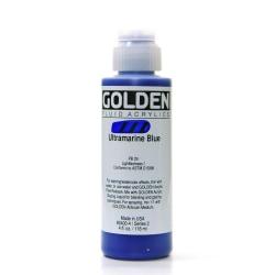 Golden Fluid Acrylic Paint, 4 Oz, Ultramarine Blue