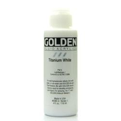 Golden Fluid Acrylic Paint, 4 Oz, Titanium White