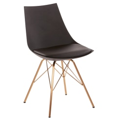 Office Star™ Avenue Six Oakley Chair, Black/Gold Chrome