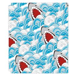 "Office Depot® Brand Fashion 2-Pocket Poly Folder, 8-1/2"" x 11"", Shark"