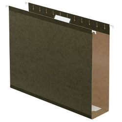"Office Depot® Brand Box-Bottom Hanging File Folders, Legal Size (8-1/2"" x 14""), 2"" Expansion, Green, Box Of 25"