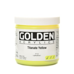 Golden Heavy Body Acrylic Paint, 16 Oz, Titanate Yellow