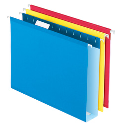 "Office Depot® Brand Box-Bottom Hanging File Folders, Letter Size (8-1/2"" x 11""), 2"" Expansion, Assorted Colors, Pack Of 12"