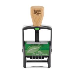 "Custom 2000 PLUS® Green Line® Self-Inking Date Stamp, 2660GL, 1-3/8"" x 2-3/16"" Impression"