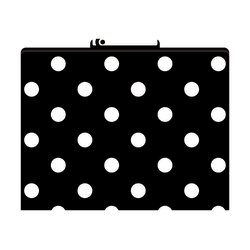 "Barker Creek Tab File Folders, 8 1/2"" x 11"", Letter Size, Black-And-White Dot, Pack Of 12"