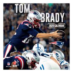 "Turner Licensing Monthly Wall Calendar, 12"" x 12"", Tom Brady, 2020"