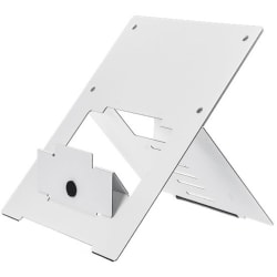 "R-GO TOOLS FLEXIBLE LAPTOP STAND Adjustable Stand, Ergo, WHITE, TAA - 0.8"" Height x 23.5"" Width - White"