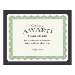 Geographics Recycled Certificate Holder - Navy - 30% - 10 / Pack