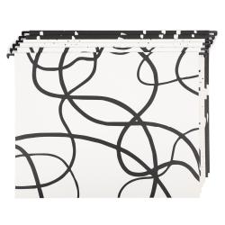 """U Brands Hanging File Folders, 1"""" Expansion, Letter Size, Artistic Elements, Pack Of 6 Folders"""