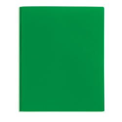 Office Depot® Brand 2-Pocket Poly Folder with Prongs, Letter Size, Green