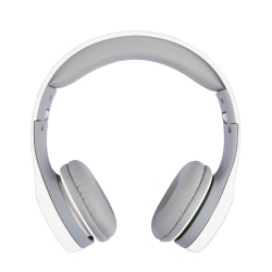 Ativa™ Kids' On-Ear Wired Headphones With On-Cord Microphone, White/Gray