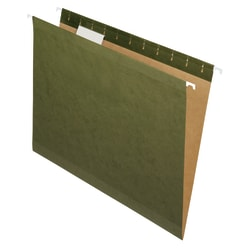 "Office Depot® Brand Reinforced Hanging File Folders, 8 1/2"" x 11"", Letter Size, Standard Green, Pack Of 6 Folders"