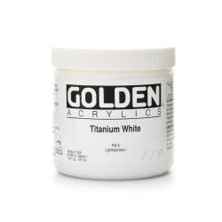 Golden Heavy Body Acrylic Paint, 16 Oz, Titanium White