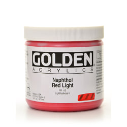 Golden Heavy Body Acrylic Paint, 16 Oz, Naphthol Red Light