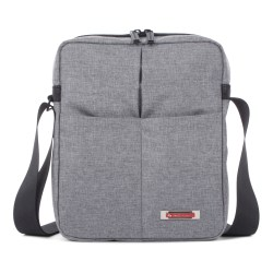 Swiss Mobility Sterling Crossbody Messenger Bag With Tablet Pocket, Gray